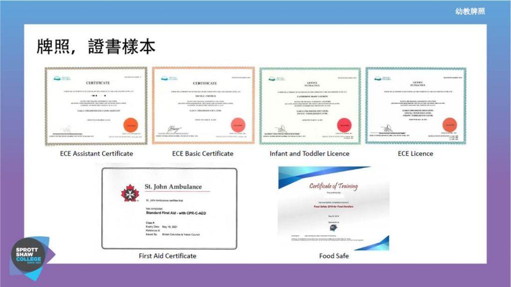 加拿大 ECE 幼教證書 牌照